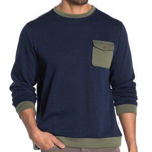 NEW Onia Hudson Colorblock Crewneck Sweater Blue